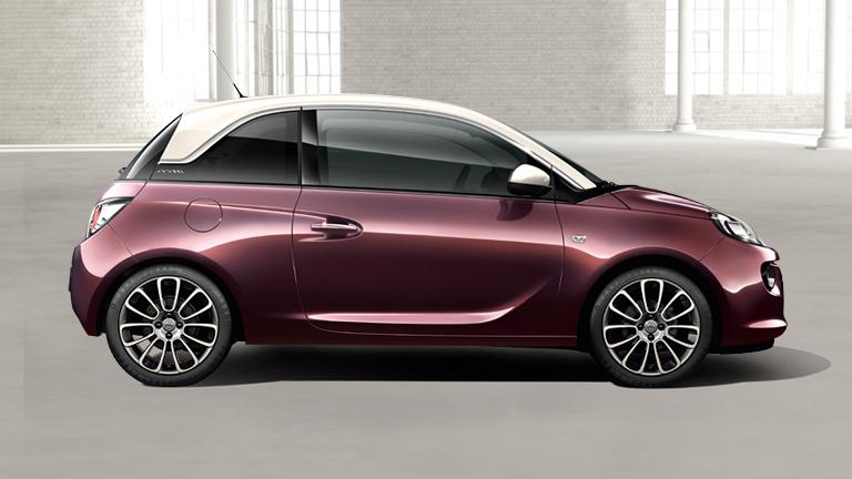 opel pr sentiert das neue modell adam glam ein auto mit. Black Bedroom Furniture Sets. Home Design Ideas