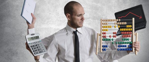 Business Mann der kein Zeitmanagement hat
